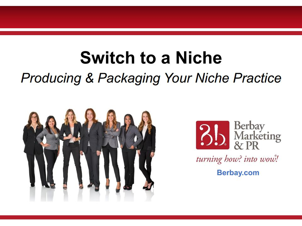 Webinar - Switch to a Niche