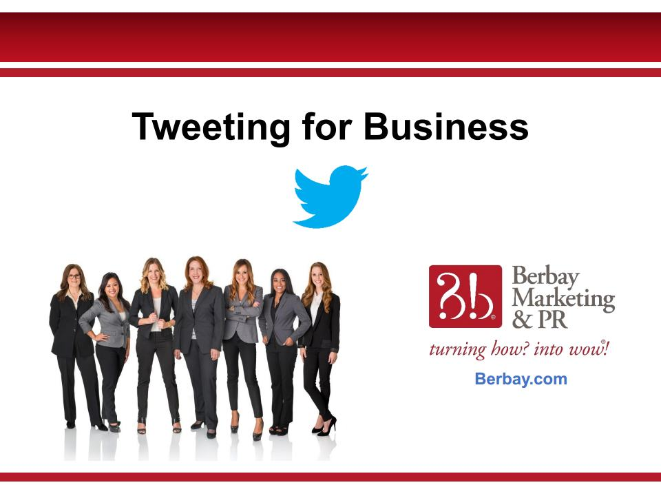 Webinar - Tweeting for Business