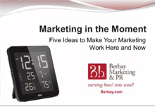 Webinar - Marketing in the Moment