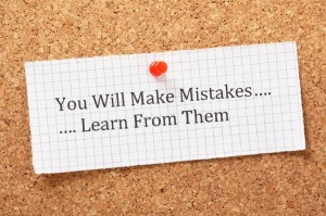 """Post-it note saying Yo Will Make Mistakes…Learn From Them"