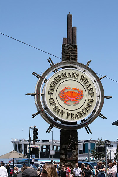 Fisherman's Wharf wheel post San Francisco
