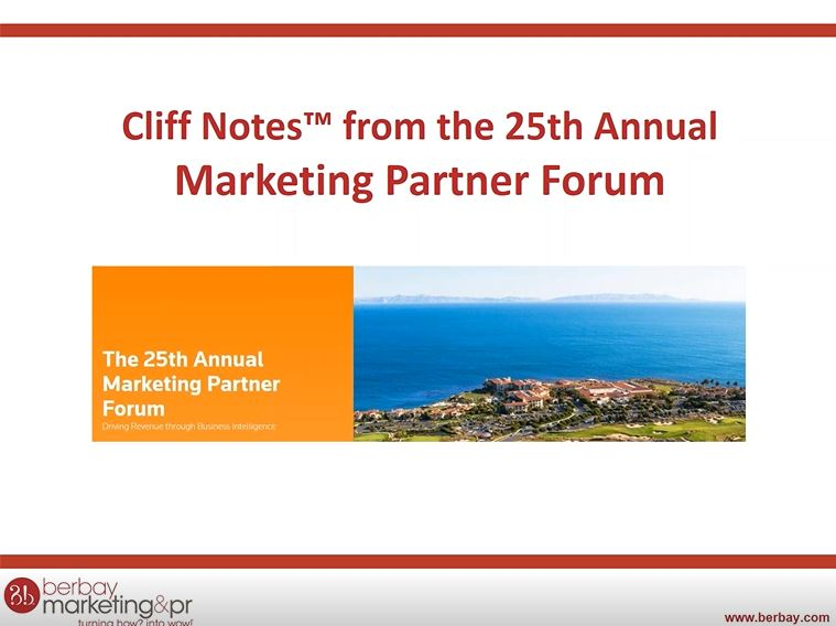 Marketing Partner Forum Recap Webinar