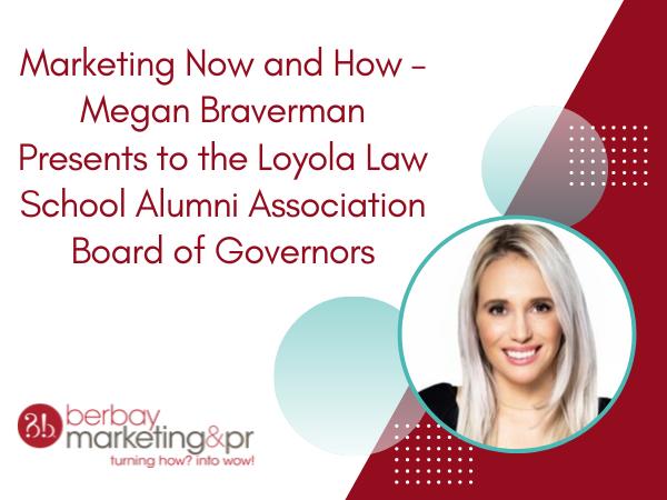 Megan Braverman Presents to the Loyola Law School
